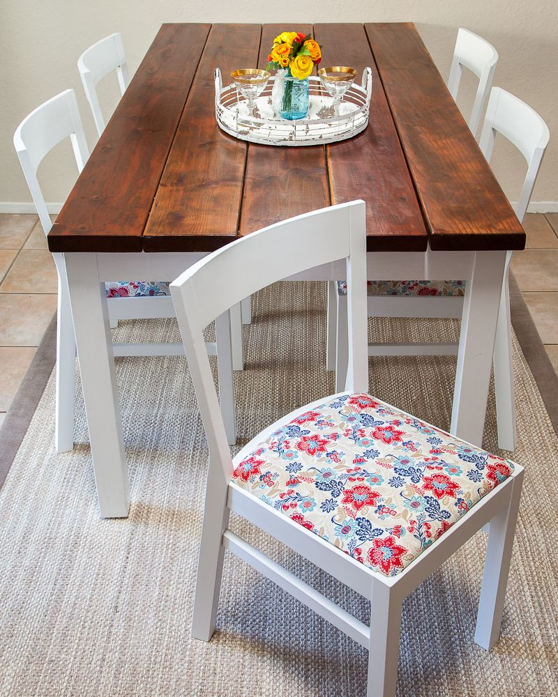 How to beautifully reupholster dining room chairs on a