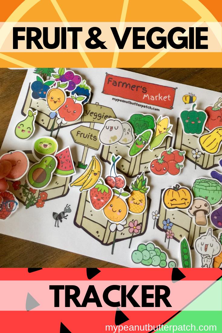 Fruit and Veggie Chart Behavior Chart for Kids Reward ...