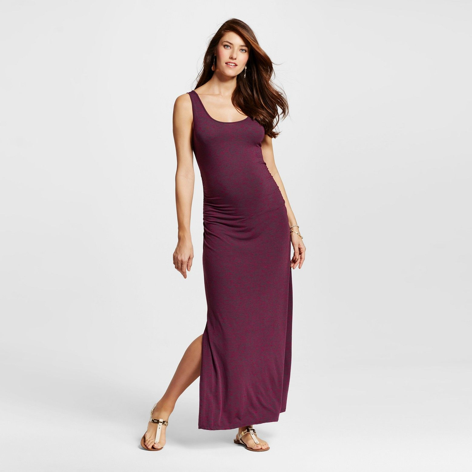 c85e2cea653dc $20 clearance at Target. Burgundy maxi maternity dress. | Maternity ...