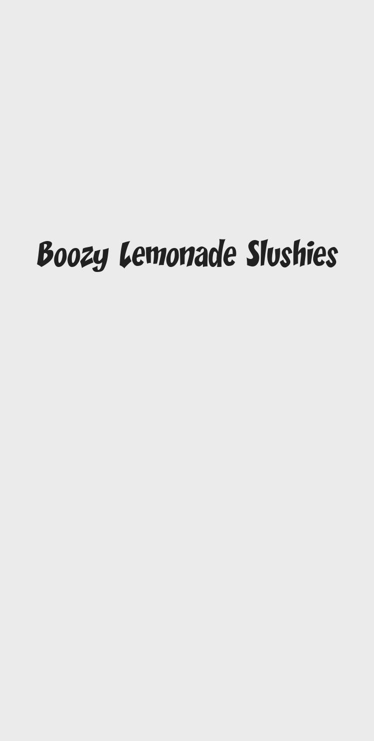 Boozy Lemonade Slushies #frozenlemonade