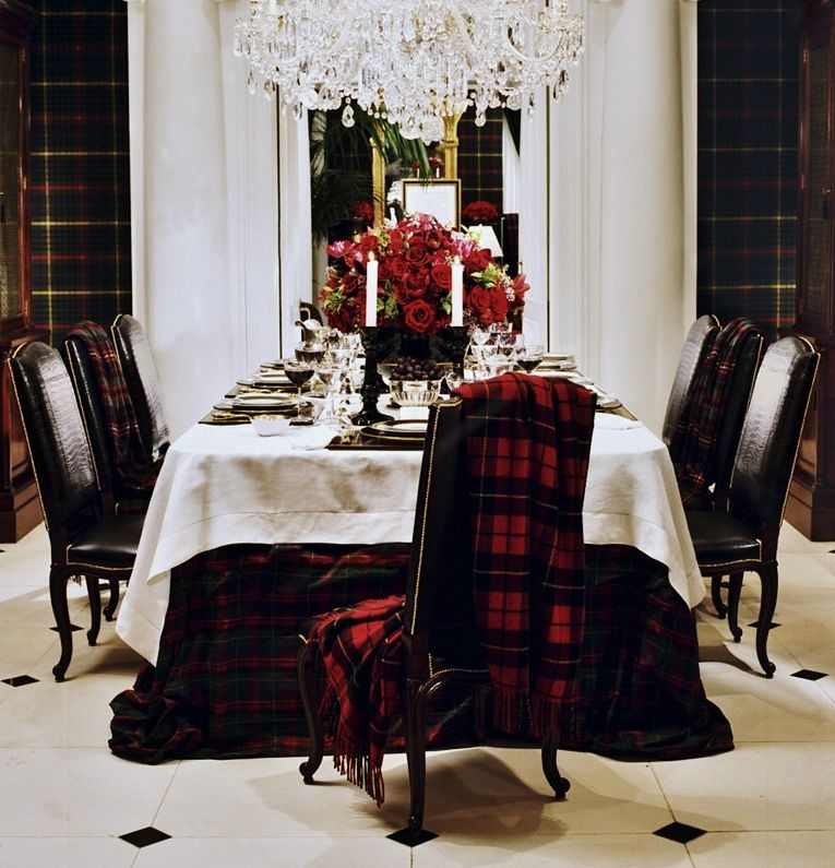Furniture Meubles: Ralph Lauren Collection By E.J. Victor Furniture.  Tantalizing Tartan.