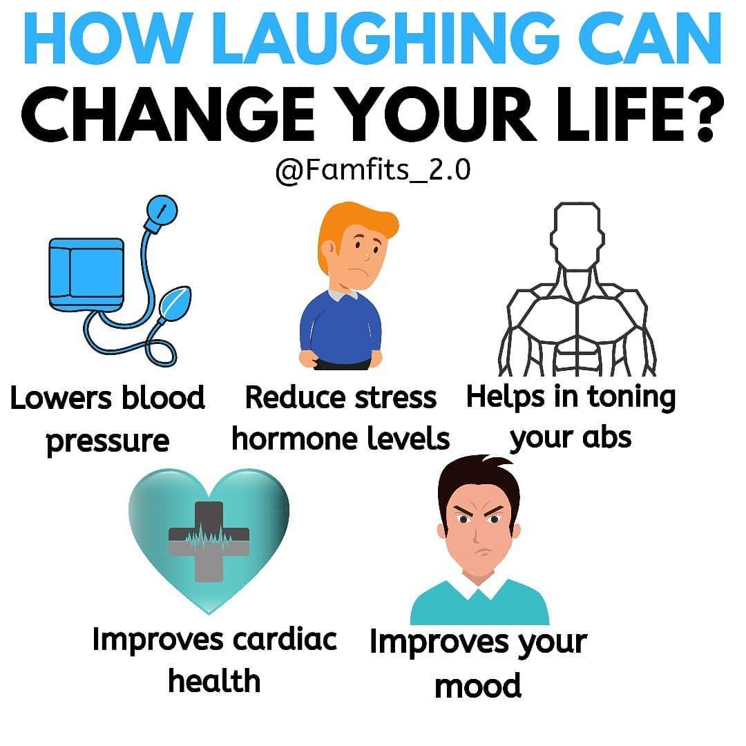 Laughter is the best medicine Benefits of laughing can be many but the main one is that it improves...