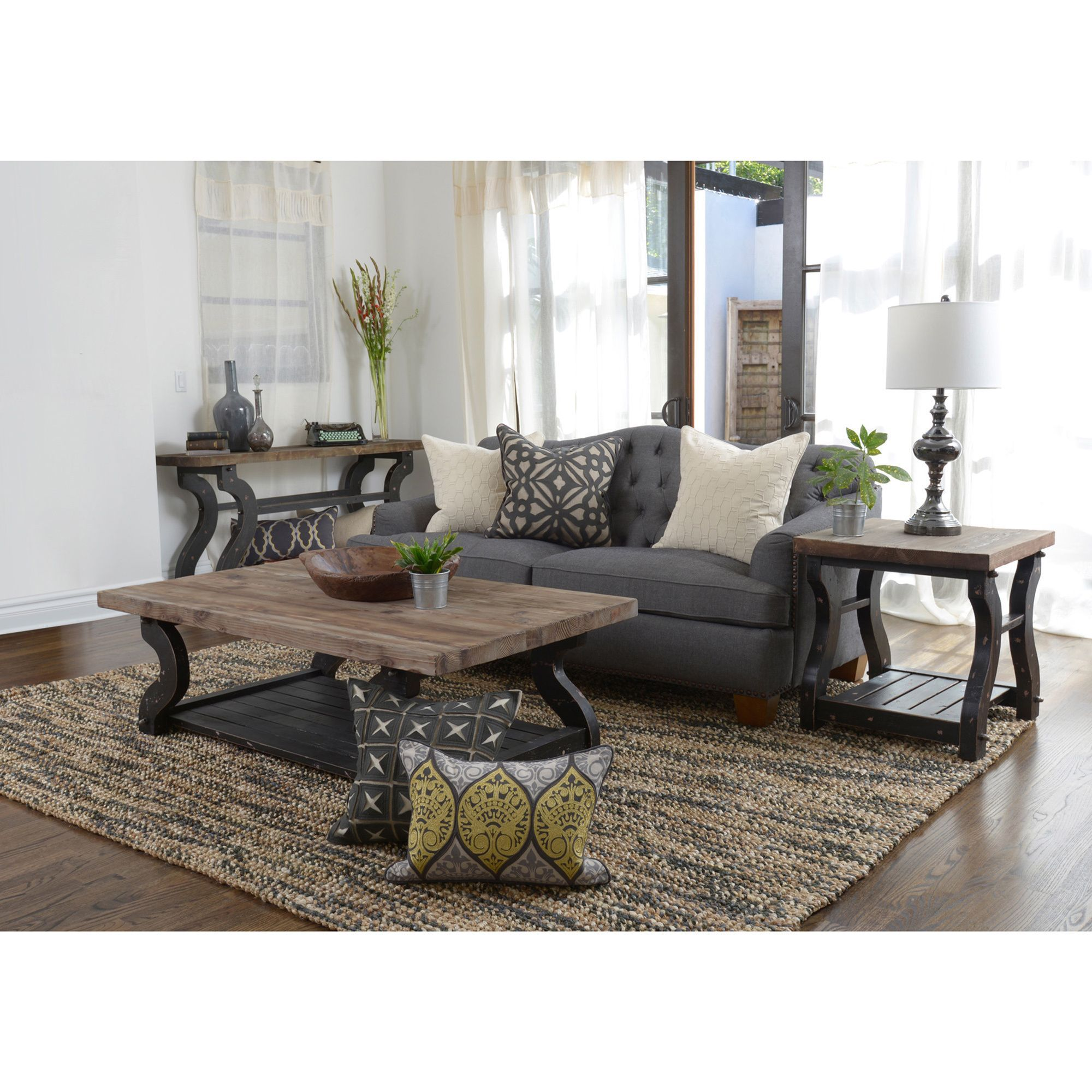 Add rustic charm to your home decor with the Satur coffee table