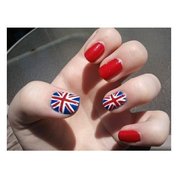 British Flag Union Jack Nails found on Polyvore