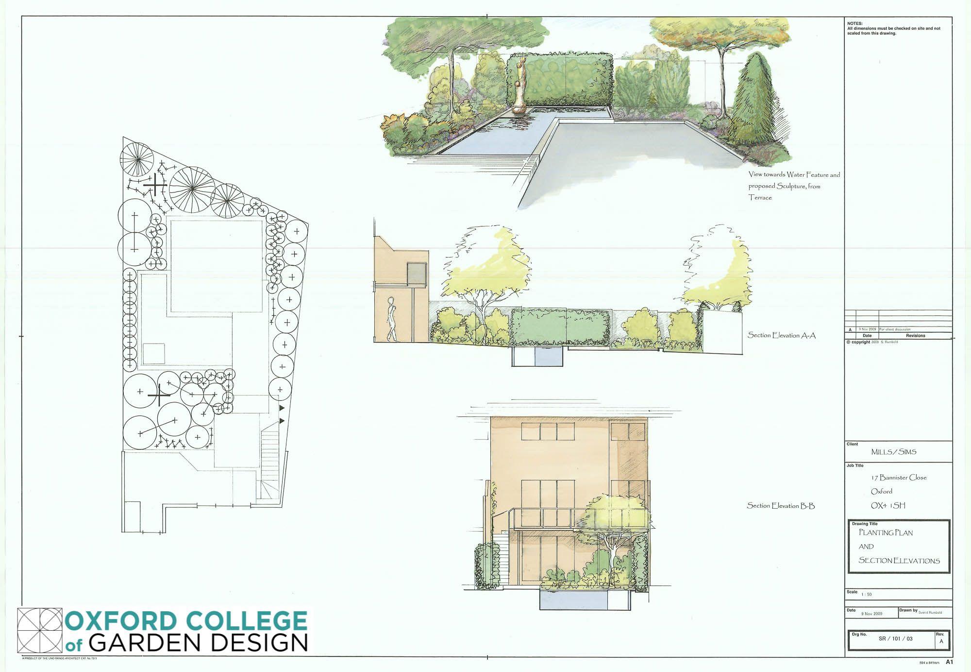 Project 1 Courtyard Garden Comprising Sketch Plan, Bubble Diagram, Planting  Plan U0026 3D Perspective