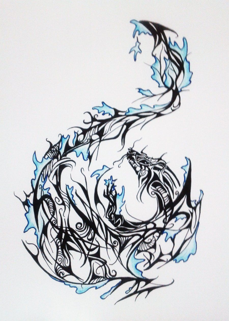 Dragon Water Tattoo Design By Melodicinterval D5htpj0 Jpg 900 1259 Water Tattoo Dragon Tattoo Mermaid Tattoo Designs