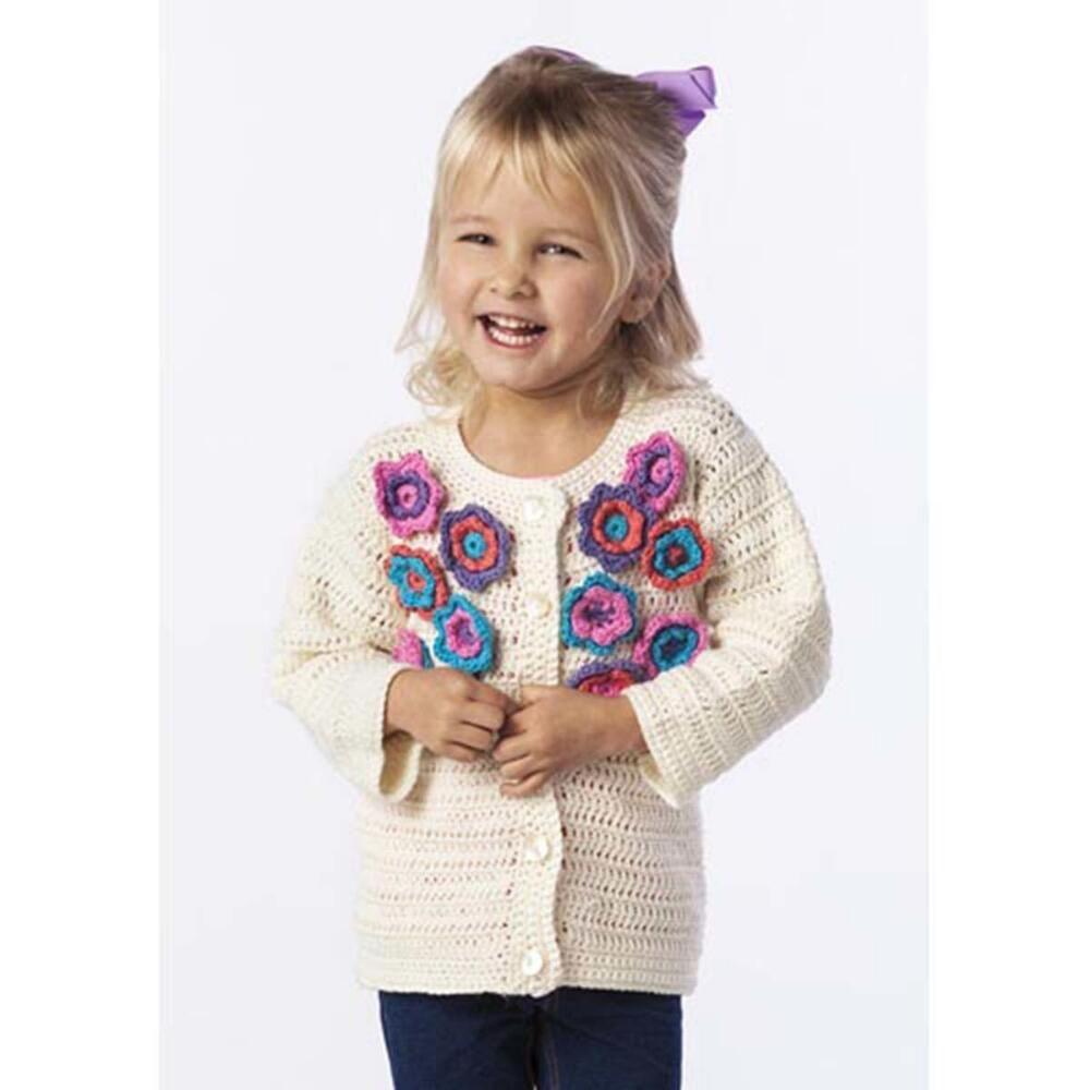 Premier® Flower Power Cardi Free Crochet Pattern - Sizes 6 mos (12 ...