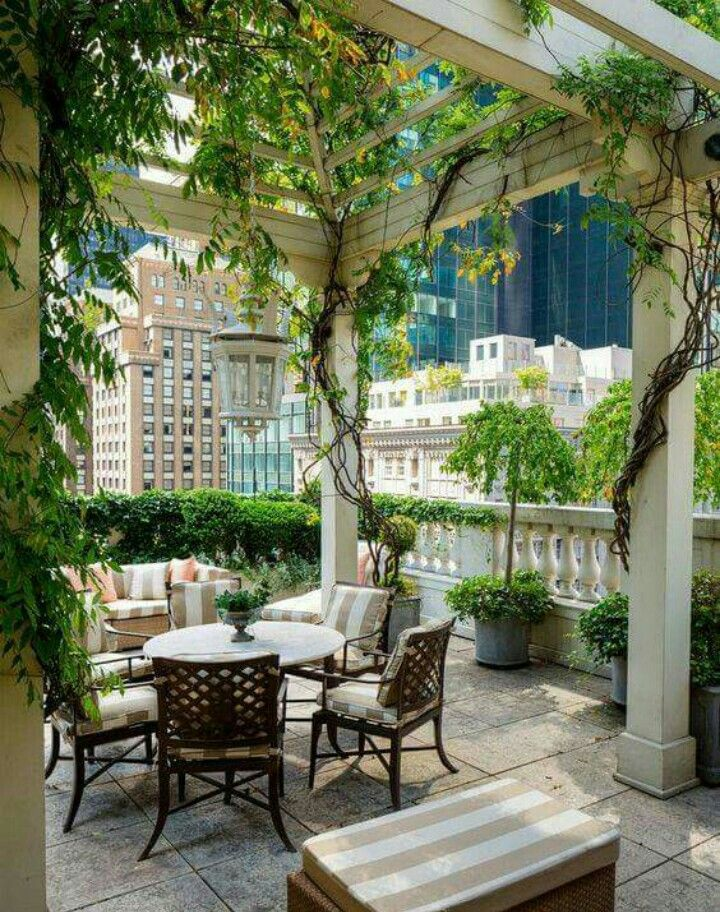 Beautiful outdoor spaces can be created in high rises ~ condos, apartments, nearly anywhere ~