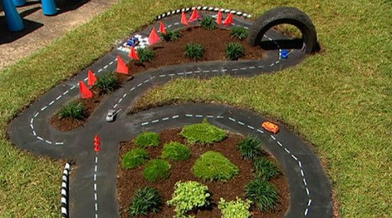 Tire Race Car Track DIY