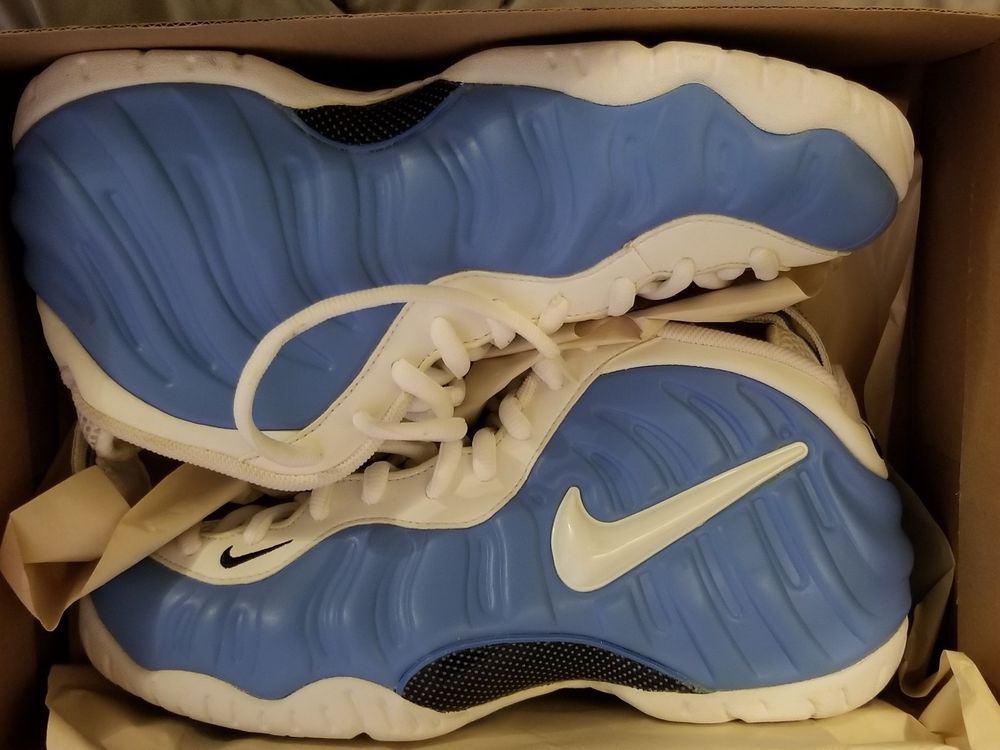 the latest 4aa03 a6c4d eBay  Sponsored 2003 Nike Air Foamposite Pro University Blue White Carolina Size  9.5 DS.