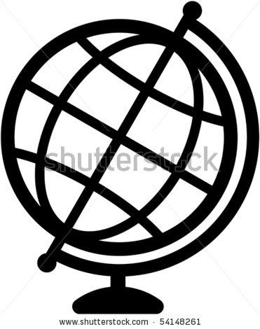 Geography earth globe icon - vector illustration by Vector, via Shutterstock