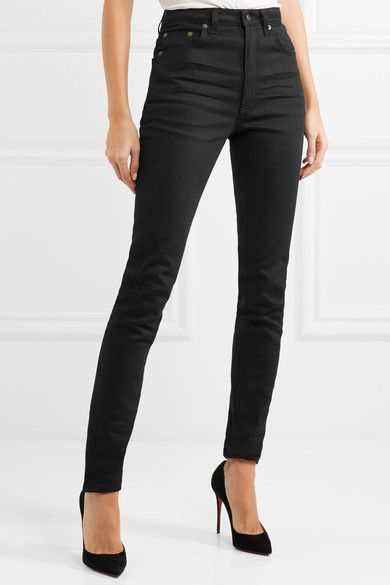 1ccb023495b Saint Laurent - High-rise skinny jeans | Products | Jeans, Skinny ...