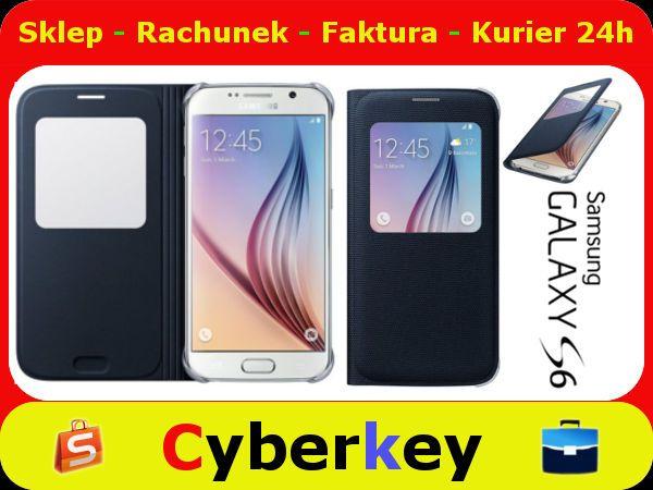 Etui Samsung S View Cover Galaxy S6 Black Oryginal 5577038120 Oficjalne Archiwum Allegro Galaxy S6 Galaxy Samsung