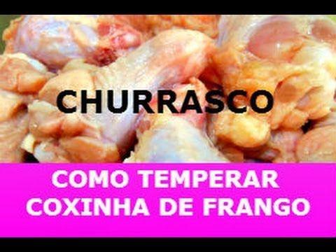RECEITA DE TEMPERO DE COXINHA DE FRANGO PARA CHURRASCO