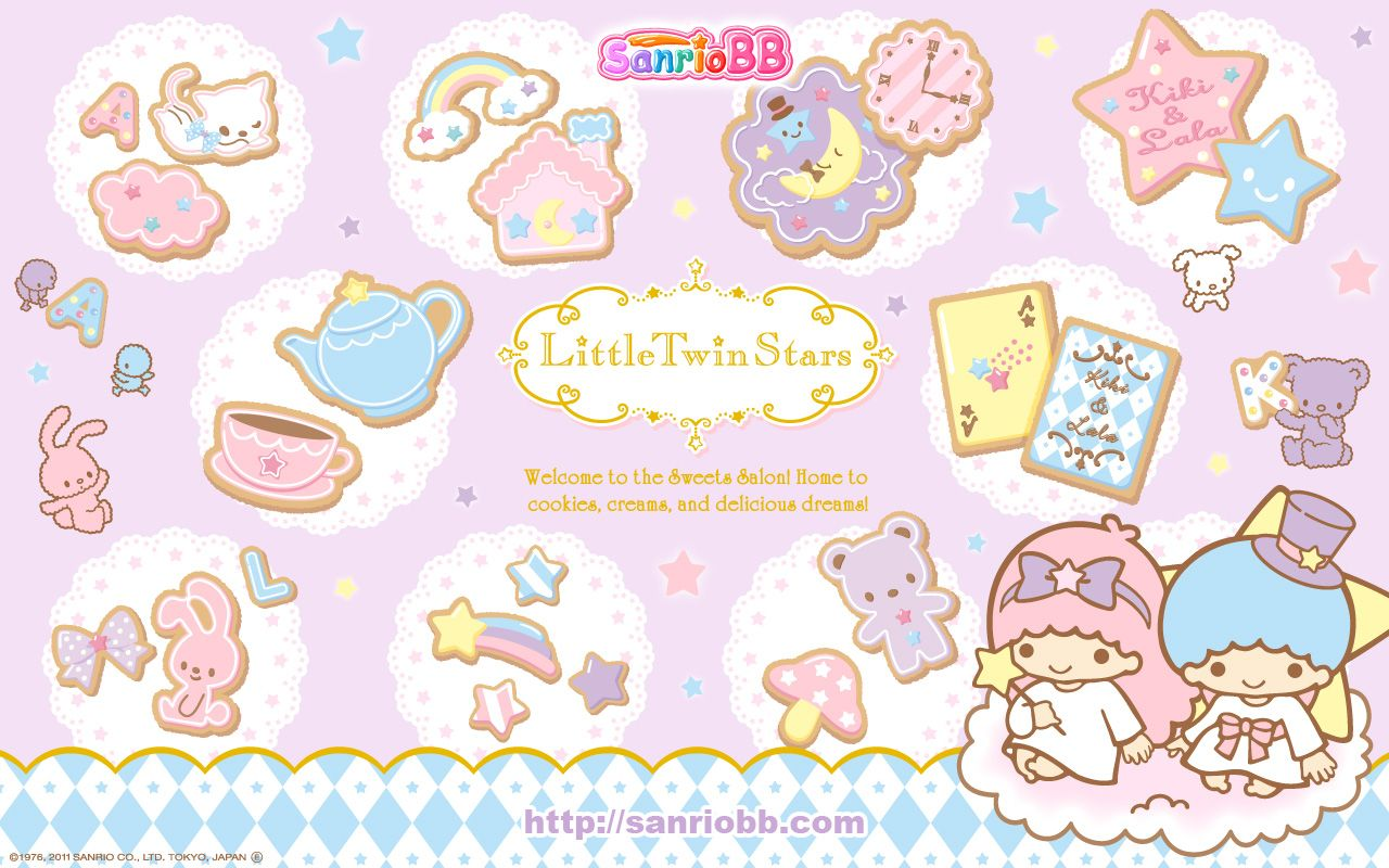 Little Twin Stars Wallpaper 2011 SanrioBB Present