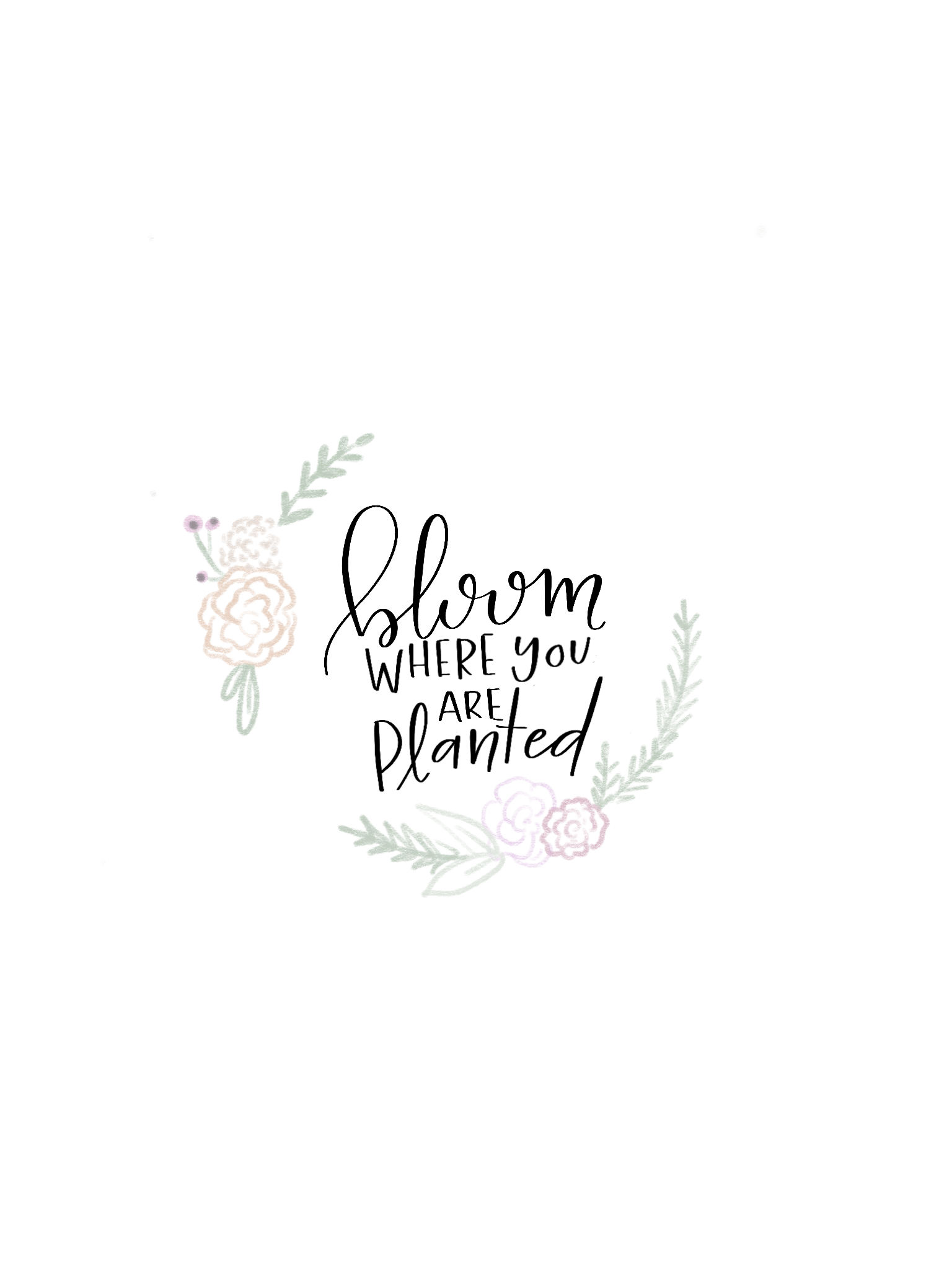 Bloom where you are planted.\