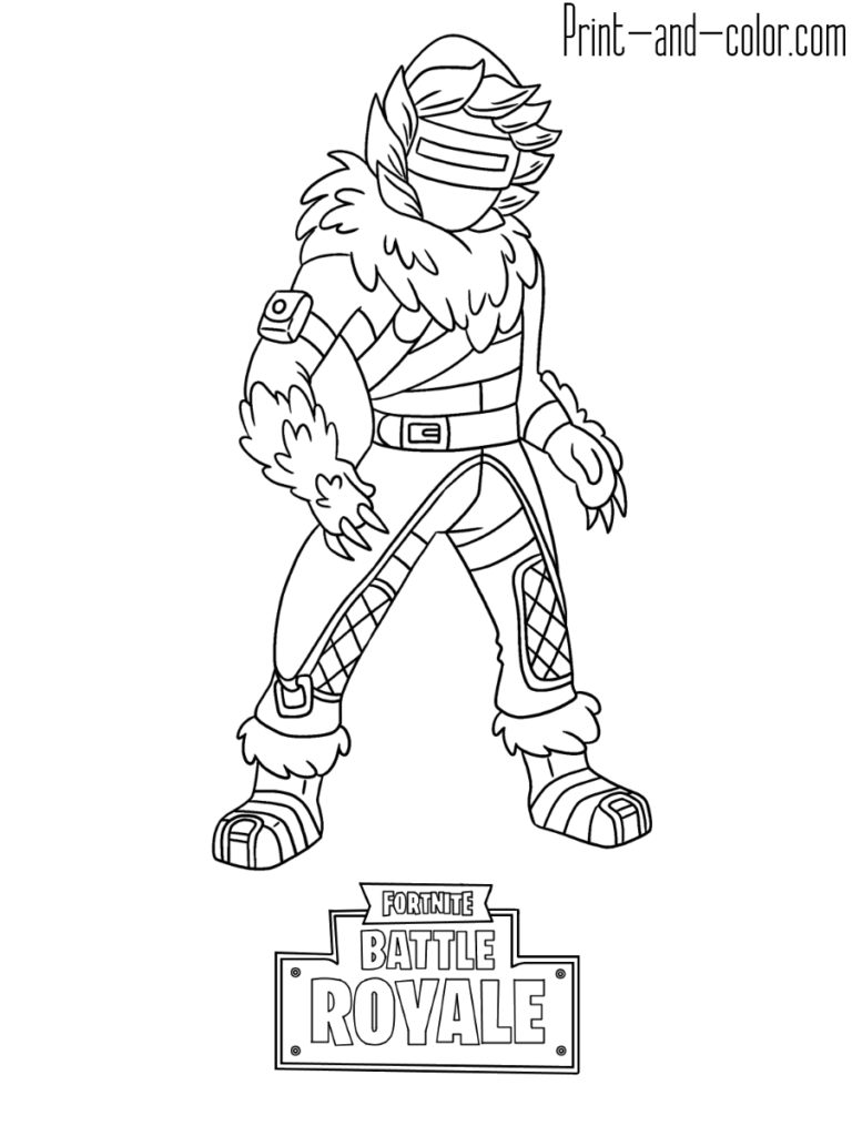Fortnite Battle Royale Coloring Page Zenith Skin Disegni E Colori