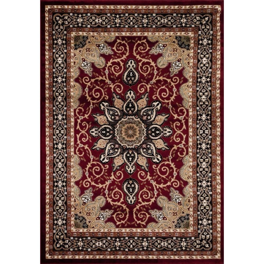 Persian Rugs Oriental Traditional Red Multi Colored Area Rug 4