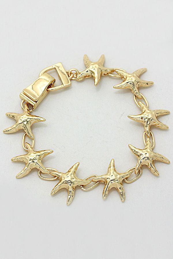 Golden Starfish Bracelet