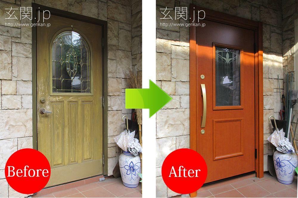 輸入住宅の難易度の高い玄関ドア交換 三協アルミ 玄関ドア 輸入住宅 ドア