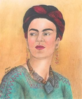 Frida Kahlo 1941 Self Portrait, Colored Pencil | Frida Kahlo