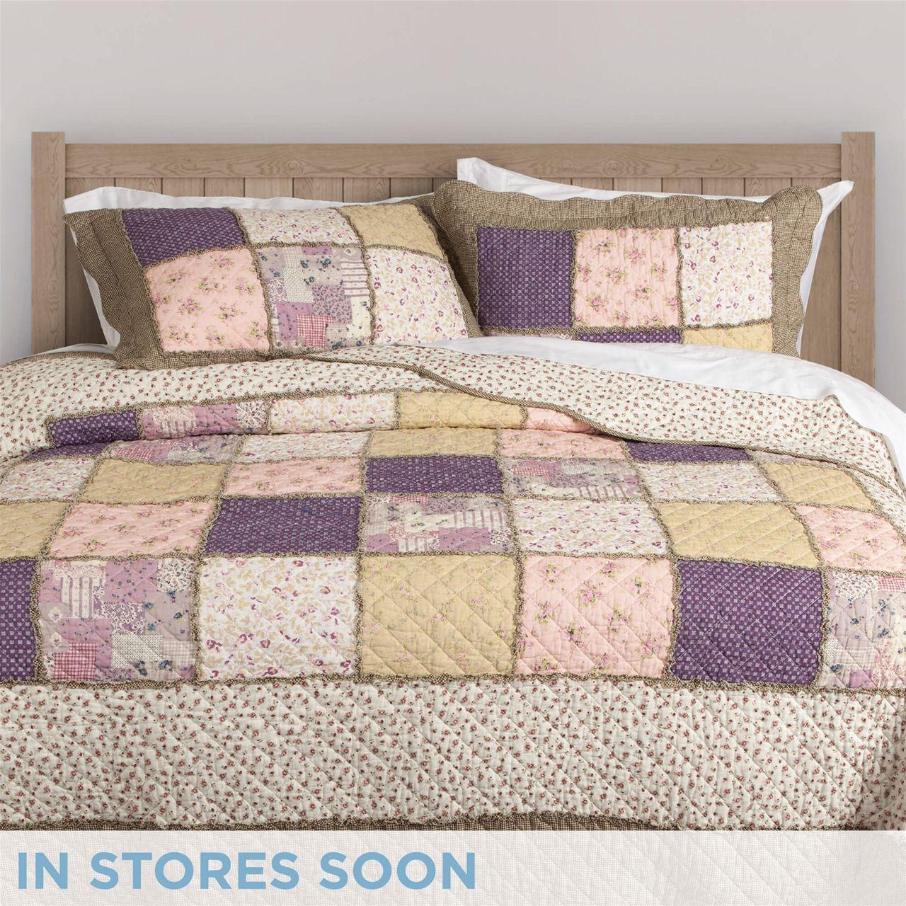 Ladysmith Cotton Quilt Set QE Home Patchwork Quilt