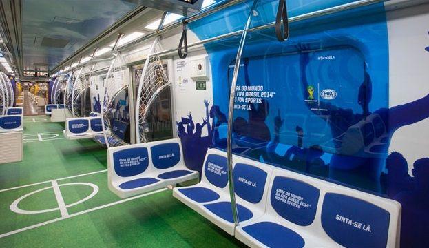 Fox Sports ativa Copa 2014 em transporte público de São Paulo | Marketing Esportivo