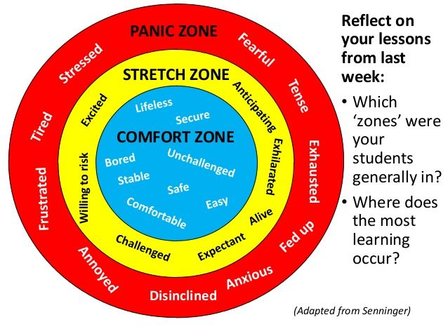 Lessons Comfort Zone Stretch Zone Panic Zone Experiential