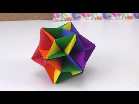 Modular Origami How To Make Modular Star Sphere Origami Youtube Paper Bracelet Origami Jewelry Paper Crafts For Kids