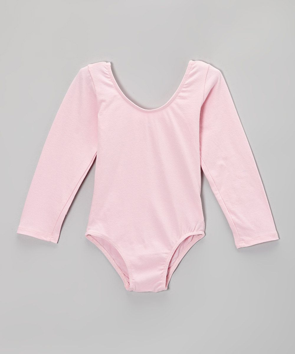 fd7b6690edbc Love this Popatu by Posh Pink Long-Sleeve Leotard - Toddler   Girls ...