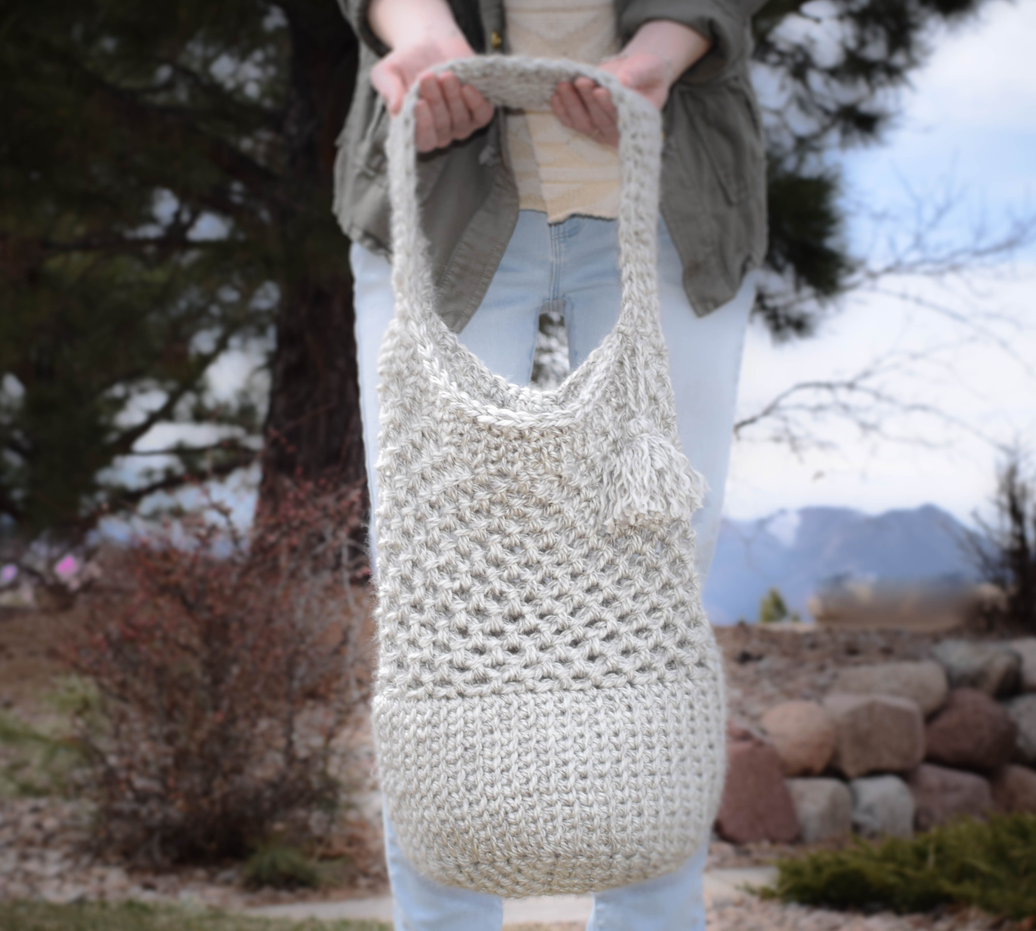 Manhattan Market Tote – Crochet Pattern | Lana, Bolsos y Ganchillo