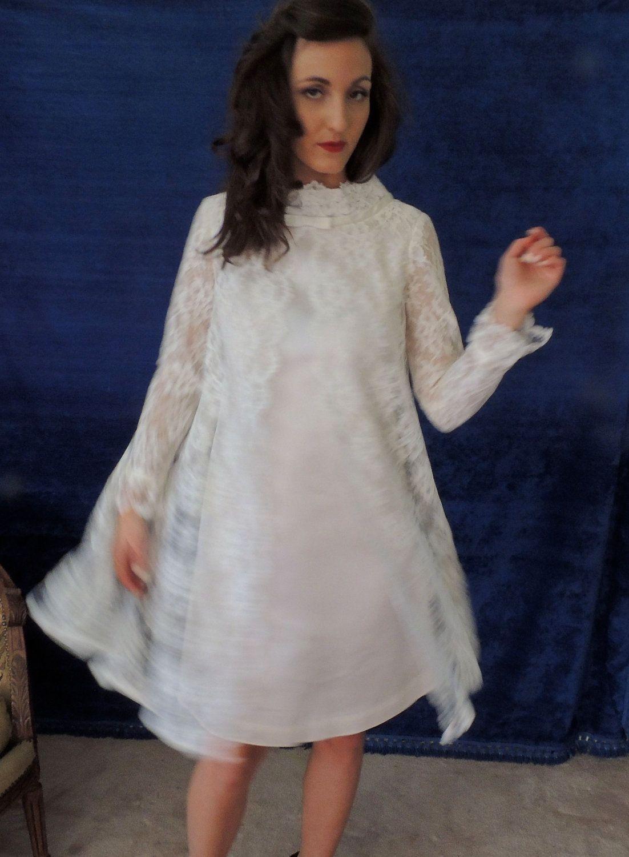 Think john u yoko vintage mod s wedding dresslace over sheath