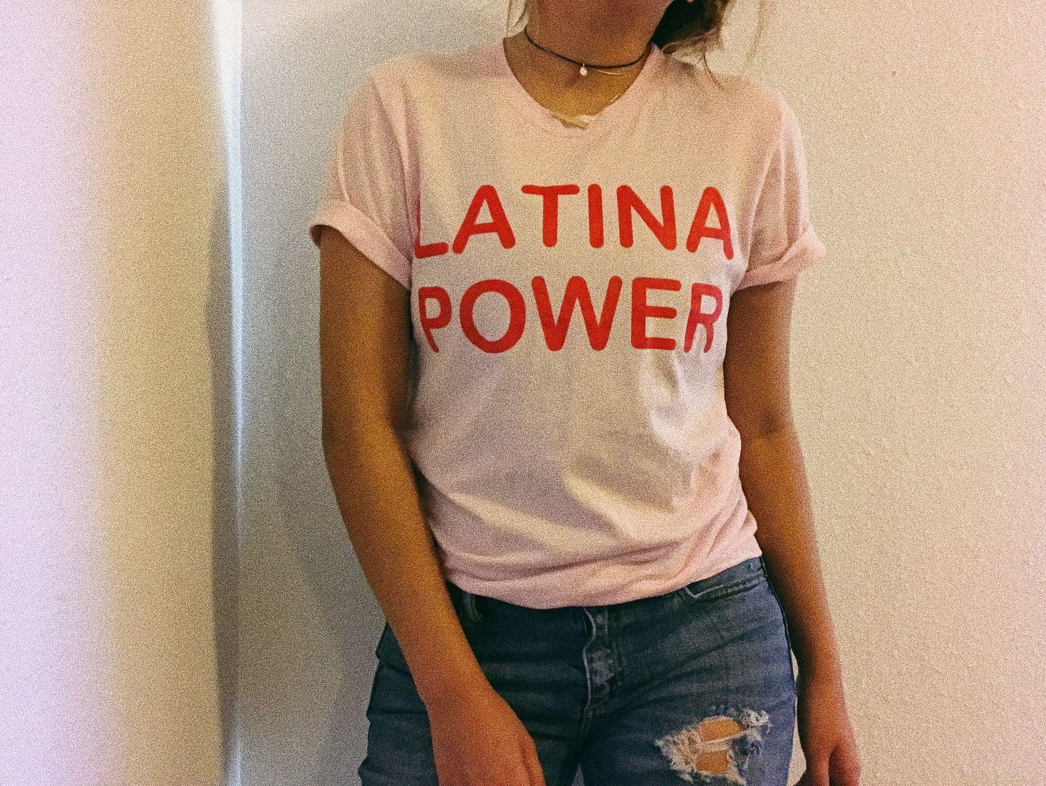 Soft Pink Latina Power Tee