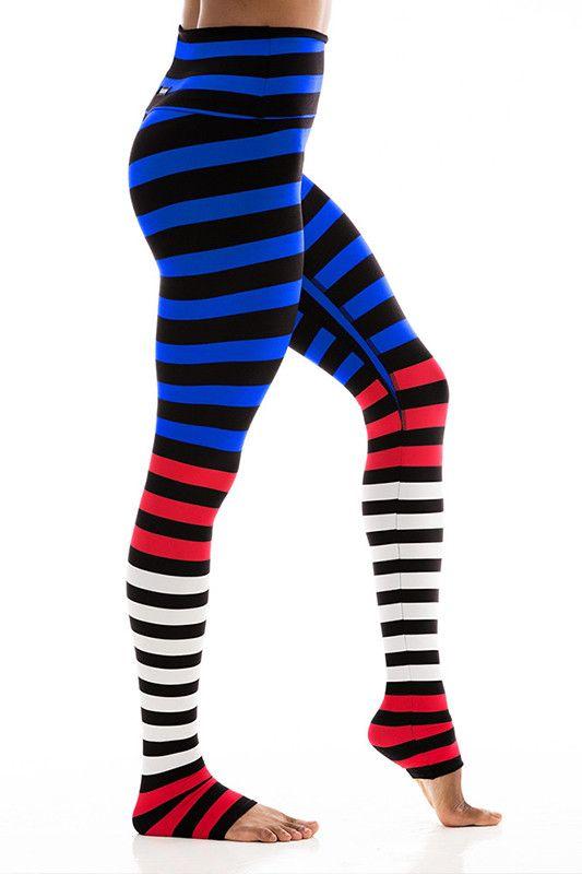 37db01b284efe K-DEER Legging - Susanne Stripe K Deer Leggings, Workout Outfits, High Waist