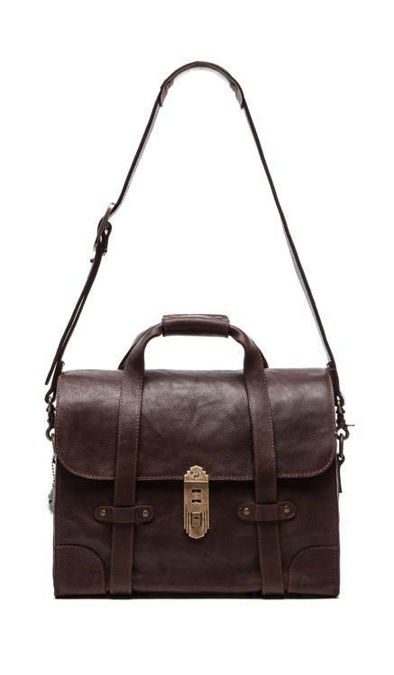 Will Leather Goods Everett Satchel Bag In Brown Revolve