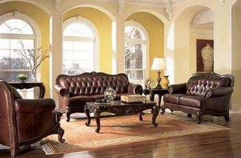 elegant living room chairs. Elegant Leather Living Room Furniture  Tri Tone Button Tufted Classic