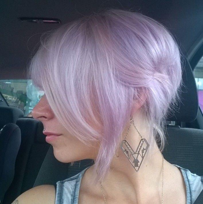 Pale Pastell Lila Haare Fur Kurze Haare Haare Lila Frisuren
