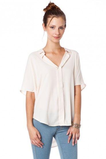 Liam Blouse in Ivory / Shopsosie #blouse #ivory #shopsosie