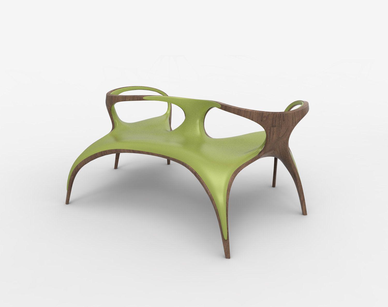 Zaha Hadid Three Seat Bench Ultrastellar Furniture Chairs  # Muebles De Zaha Hadid