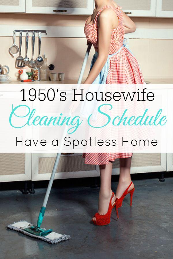 Calendario 1950.1950 S Cleaning Schedule Homemaking Limpieza Casa