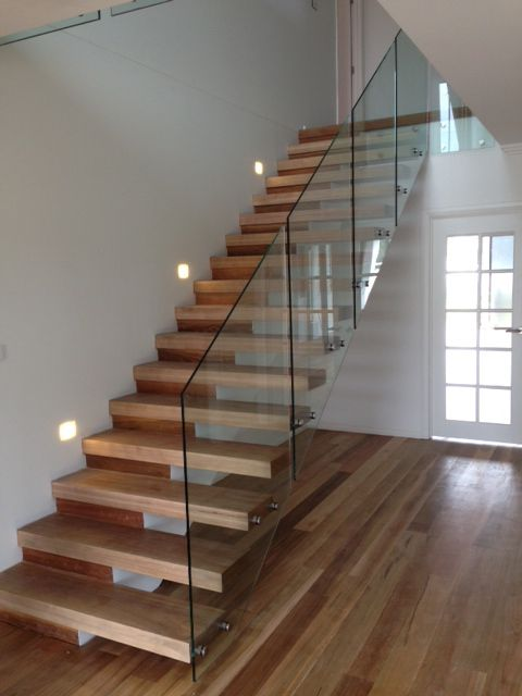 Open Riser Stair With Glass Railing   Google Search
