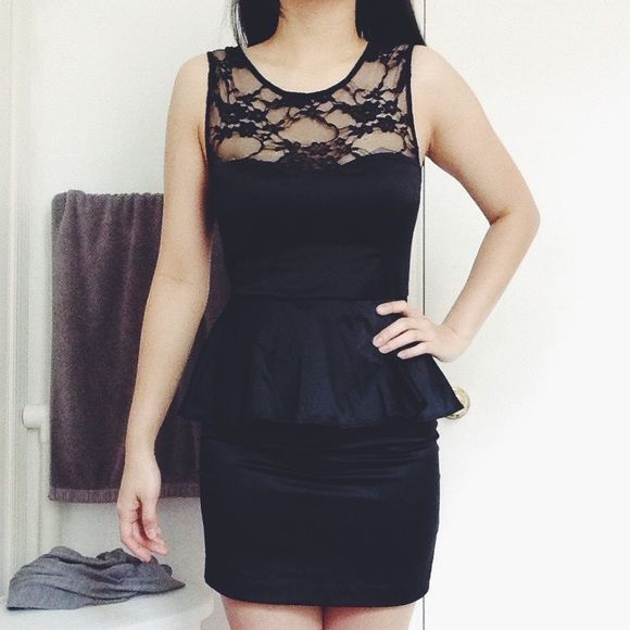 09dcf7f46f Black peplum dress