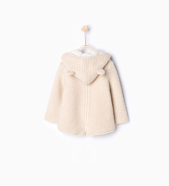 Image 2 of Knit jacket with ears from Zara