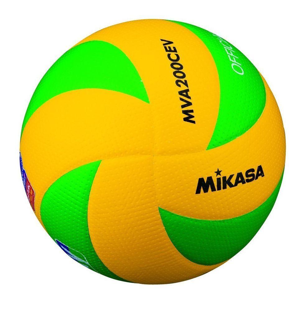 Mikasa Volleyball No 5 European Federation Match Ball Yellow Green Mva200ev 0898 Ebay Link Volleyball Volleyball Tips Mikasa