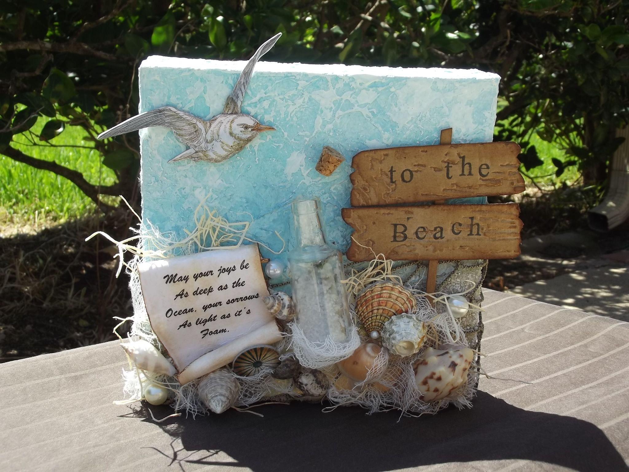 Scrapbook paper canada online - Mixed Media Beach Canvas Scrapbook Com