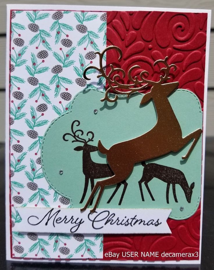 Details about CHRISTMAS CARD KIT, SET OF 4, STAMPIN\' UP GOLD ...
