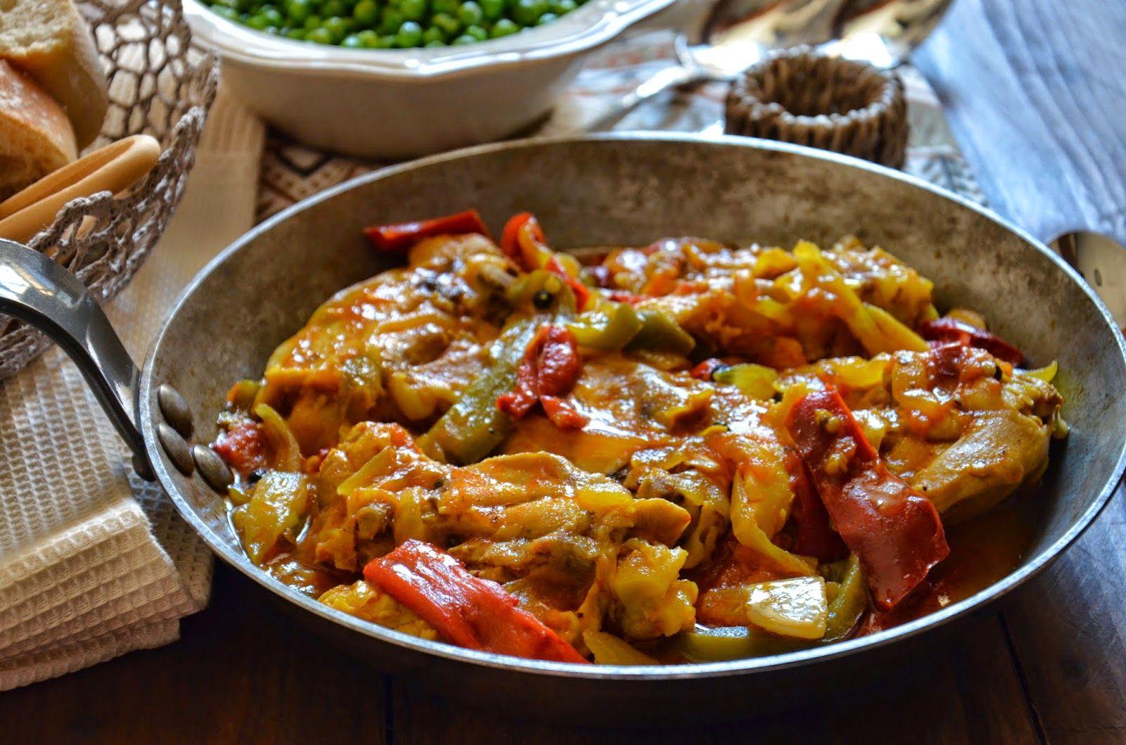 Cuchillito y Tenedor: Pollo al chilindrón. Receta.