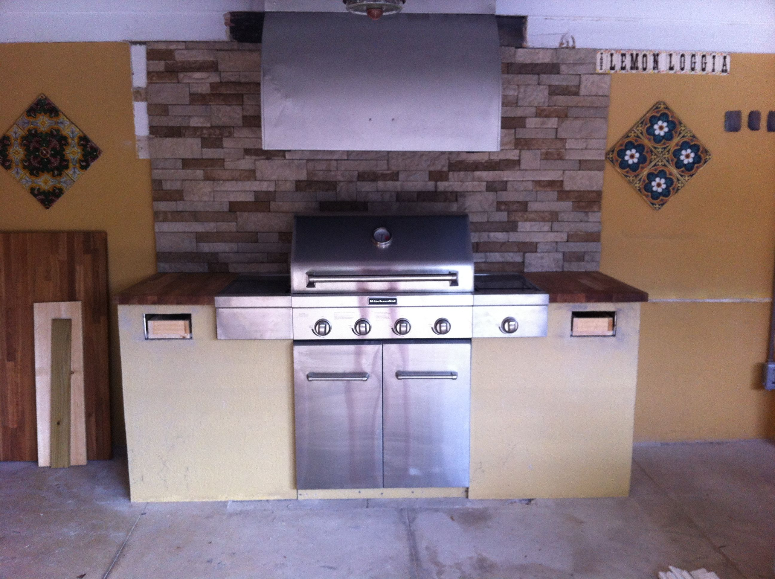 latest project outdoor kitchen here 39 s the grill and