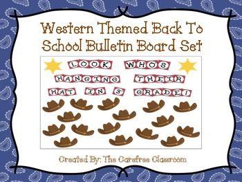Bulletin Board Set Western Themed Back To School