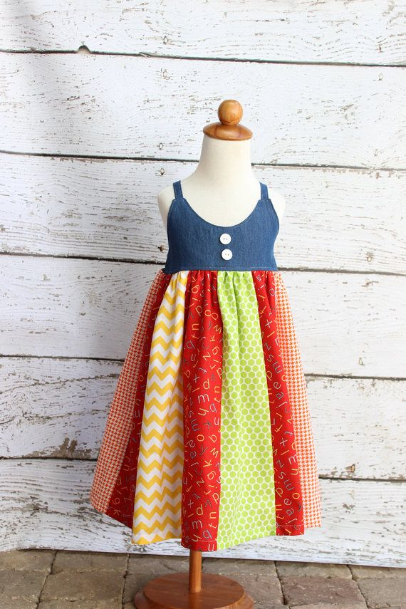 Etsy listing at https://www.etsy.com/listing/241600988/back-to-school-dress-size-5-ready-to